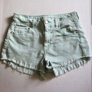 American Eagle Shorts | fringe | green | sz 8